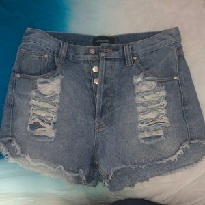 MinkPink High Waisted Shorts - size L